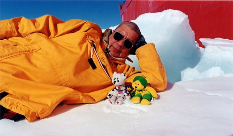Bears and Gordon Lounging on Ice