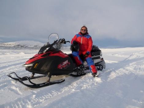 Slawek on Snowmobile